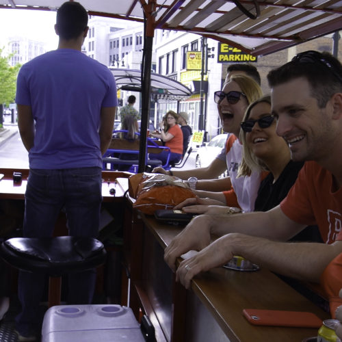 Lining up the streets of Detroit with Pedal pubs