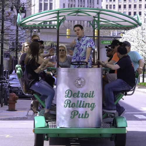Spring time in Detroit on the #1 Pedal Pub!
